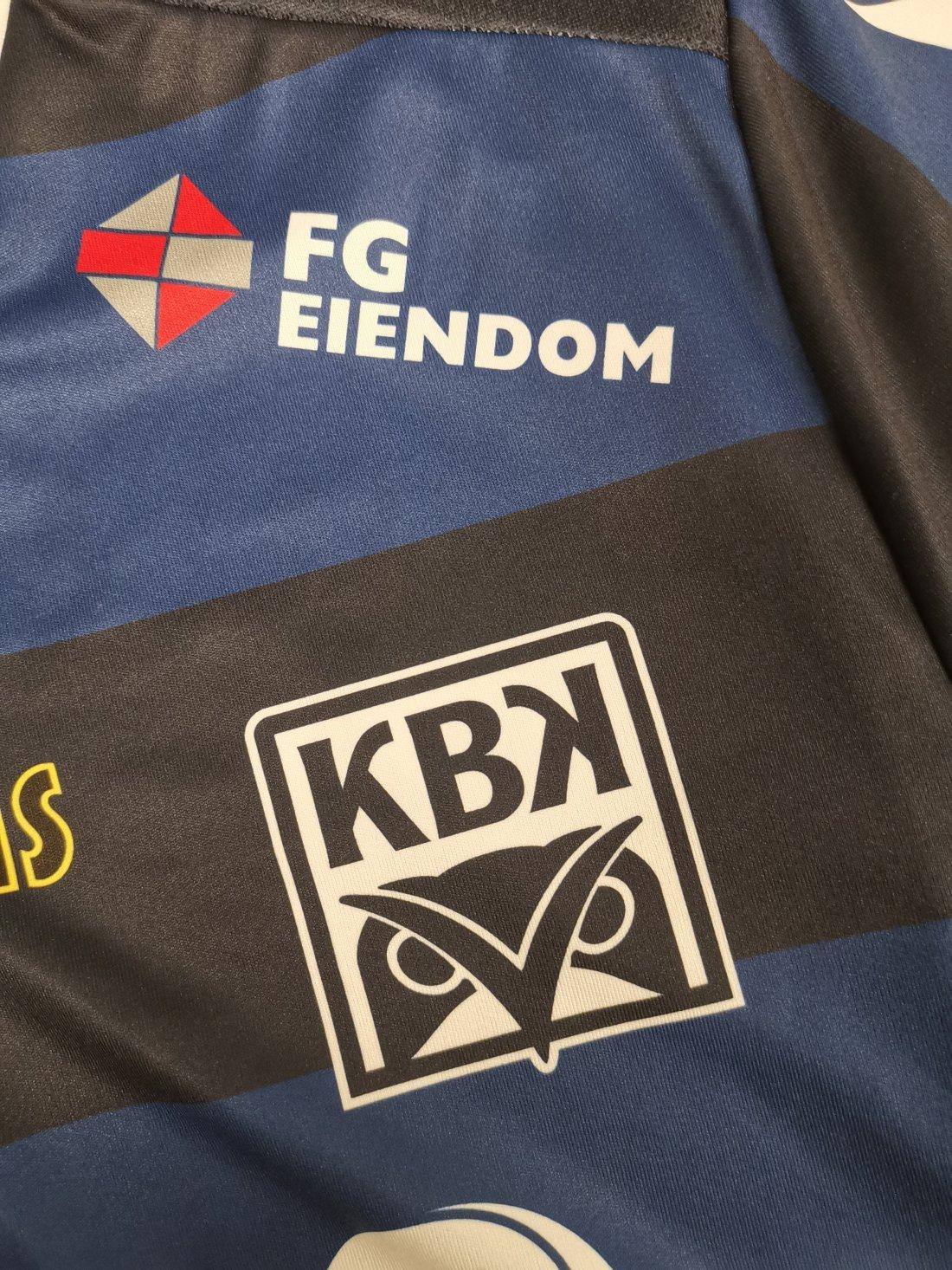 FG Eiendom har vært profilert på KBK-drakten i mange år, det vil de også være i 2020!