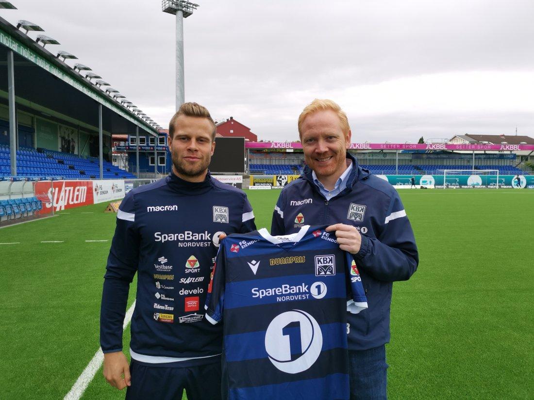 Olav Øby sammen med sportslig leder i KBK, Kenneth A. Leren.
