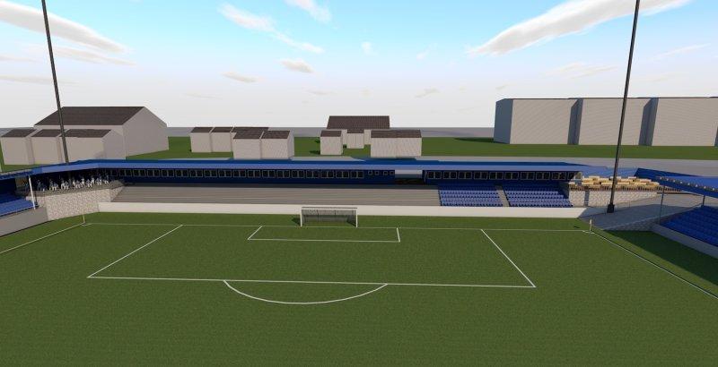 Nordsiden av stadion inneholder 1)-tribunen og mange flere tilbud til supporterne