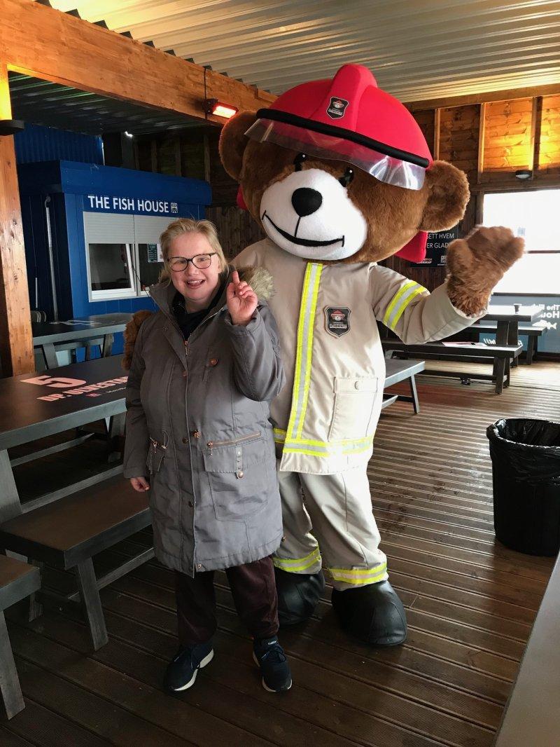Takk til Nordmøre Brann og redning som stilte med Bjørnis på rebusløpet!